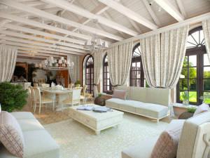 Как оформить стены, потолок и пол в итальянском стиле